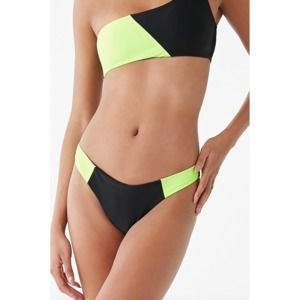 Forever 21 Neon Colorblock Bikini Bottom Swim Suit